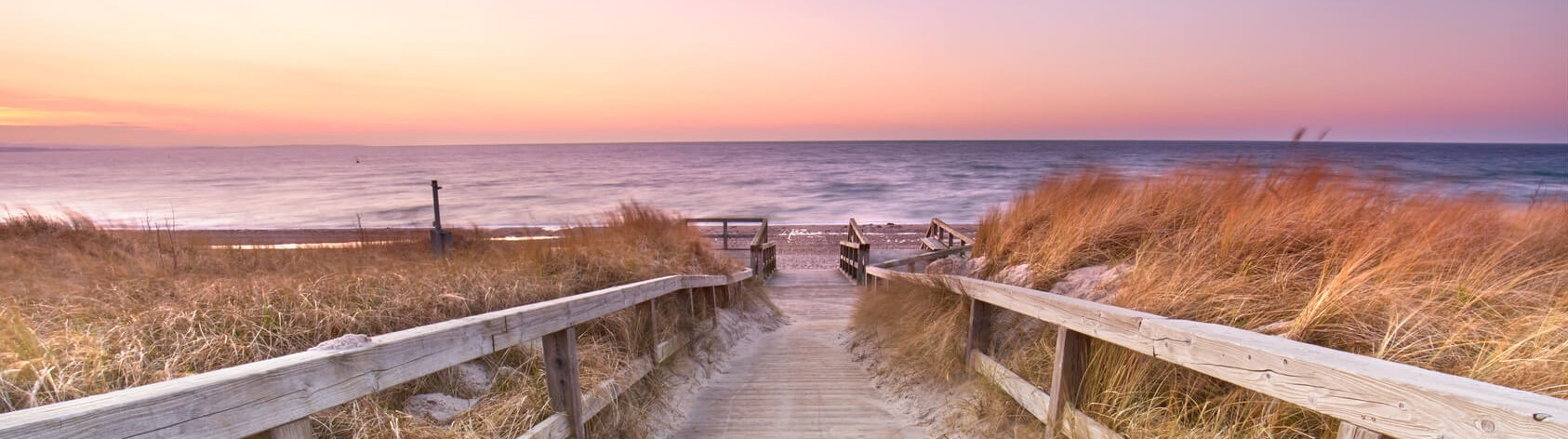 der Weg zu einem Strand