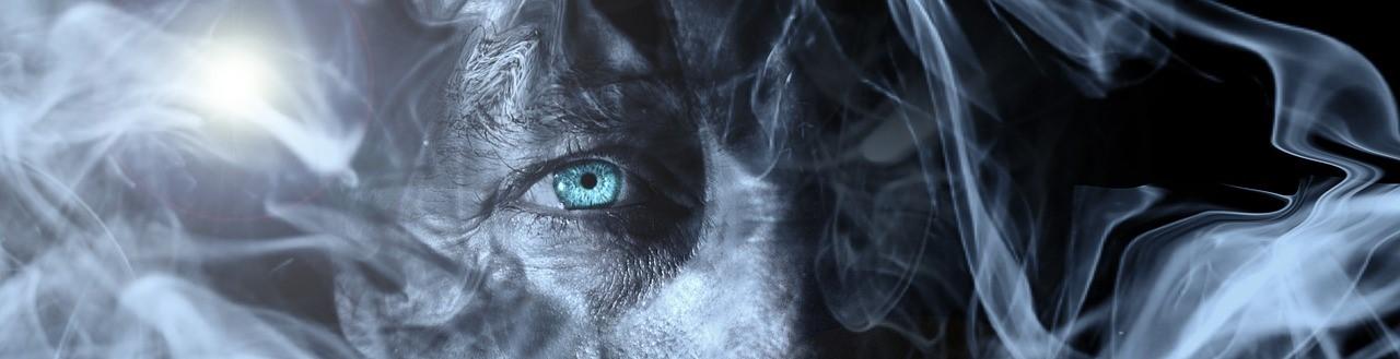 Gesicht im Rauch